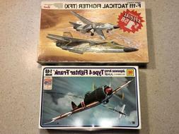 2 NEW Vintage Revell F-111 Otaki Japan Model Plane Lot Kit K