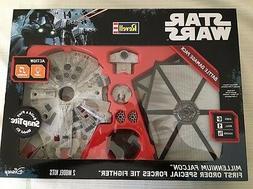 2 Star Wars Battle Pack Models Millennium Falcon Tie Fighter