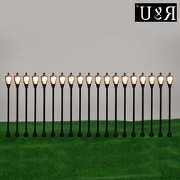 20pcs Mini Ho Scale LEDs Lamp Post Street <font><b>Lights</b