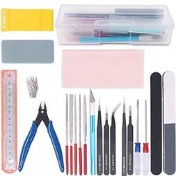 Rustark 21Pcs Modeler Basic Tools Craft Set Hobby Building K