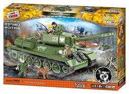 "COBI 2486 T-34/85 ""Rudy"" Model Kit, 530 building bricks Tank"