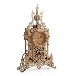 3D Wooden Puzzle Clock Model Kits for Adults- Tower Desk Clo