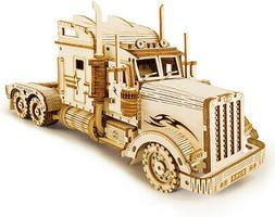 ROKR 3D Wooden Puzzle For Adults-Mechanical Car Model Kits-B