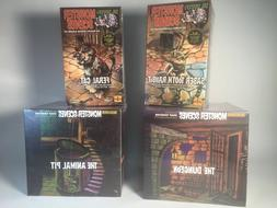 4 Monster Scenes Model Kits : Saber Rabbit,  Feral Cat, The