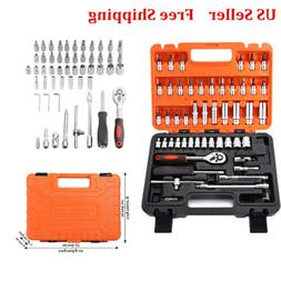 53pcs Auto Car Motorcycle Repair Tool Ratchet Wrench Sleeve
