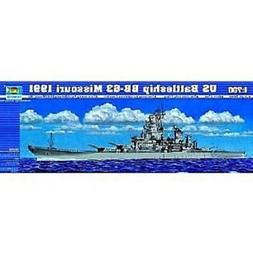 Trumpeter #5705 USS Missouri BB63 Battleship 1991 Model Kit