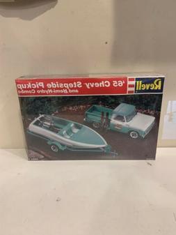 Revell '65 Chevy Stepside Pickup & Hemi-Hydro Combo 1:25 Sca