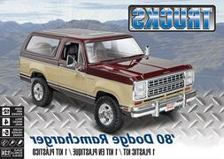 REVELL '80 DODGE RAMCHARGER 1/24 SCALE MODEL KIT-BRAND NEW-F