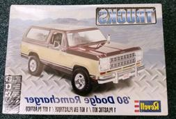 Revell 85-4372 '80 Dodge Ramcharger 1/24 Scale Model Kit - S