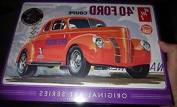 AMT 850 ART SERIES 1/25 1940 Ford COUPE IN ORANGE 2n1 Model