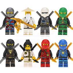 8pcs/set <font><b>Model</b></font> Ninjago Figures Assembled