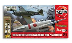 Airfix Dogfight Double Curtiss P-40B, Mitsubishi A6M2b Zero