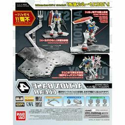 Bandai Gundam Action Base 4 Clear Gunpla 1/100 Scale Display