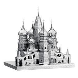 Fascinations ICONX Saint Basil's Cathedral 3D Metal Model Ki
