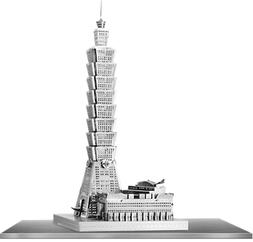 Fascinations ICONX Taipei 101 Building 3D Metal Model Kit