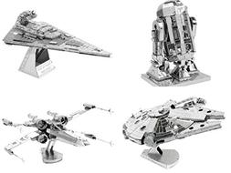 Metal Earth 3D Model Kits - Star Wars Set of 4 - X-Wing, Mil