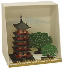 Paper Nano Five Stories Pagoda Building Kit