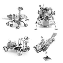 Set of 4 Metal Earth 3D Laser Cut Models: Hubble Telescope -