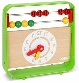 Brio ABACUS WITH CLOCK Baby Infant Toddler Wooden Toy