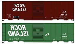 Accurail ACU1229 HO-Scale KIT 40' Wood Box Cars : RI Rock Is