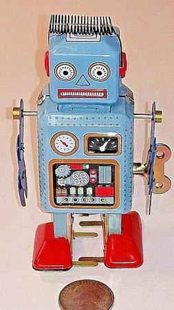 Adult Collectible Tin Toy Wind Up Robot MS294 US SHIPPER NEW