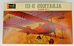 ALBATROS D-III 1/72 SCALE REVELL 1963 MODEL AIRPLANE FRAMEAB