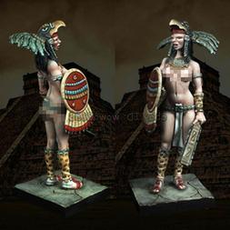 ancient female warrior figure model unpainted resin