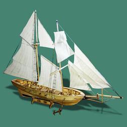 Assembling Building Kits Ship Model Wooden Sailboat Toys Har