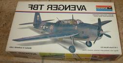 Monogram AVENGER TBF WWII Fighter Airplane Vintage Model Kit