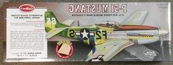 Balsa wood airplane model P-51 MUSTANG Guillows laser cut #