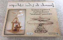 "Brand New Leonardo da Vinci Helicopter ""Aerial Screw"" Model"