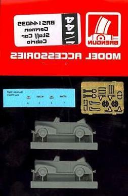 Brengun Models 1/144 GERMAN WWII CABRIO STAFF CAR  Resin & P