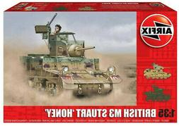 "Airfix British M3 Stuart ""Honey"" 1:35 Scale Plastic Model Ta"