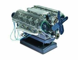 BUILD A FULLY FUNCTIONAL, MOTORIZED MODEL OF V8 PETROL ENGIN