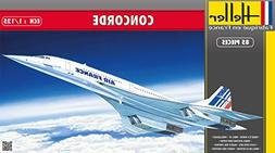 Heller Concorde Supersonic Airliner Airplane Model Building
