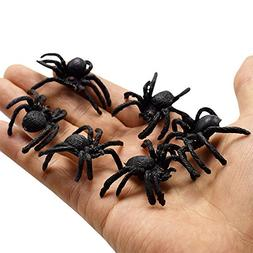 10Pcs Creative PVC Artificial Spider Insect Animal Model Fun