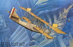 Roden Curtiss H-16 Early US Navy Twin-Engine Biplane Flying