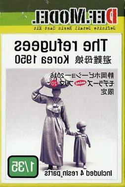 DEF Model 1:35 The Refugees Korean War 1950 Resin Figures Ki
