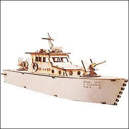Desktop Wooden Model Kit Coast Guard Cutter