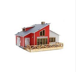 Desktop Wooden Model Kit Houses in the attic / YGPM250 by Yo