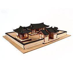 Desktop Wooden Model Kit Korean-style House Set / YG652 by Y