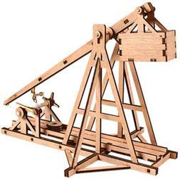 DESKTOP Wooden Model Kit Trebuchet by Young Modeler