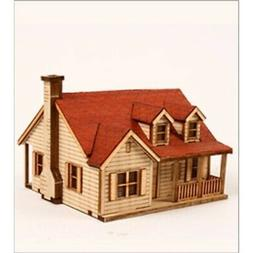 DESKTOP Wooden Model Kit Western House 2 by Young Modeler