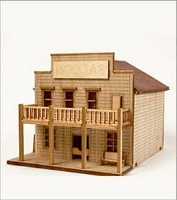 DESKTOP Wooden Model Kit Western Salong by Young Modeler