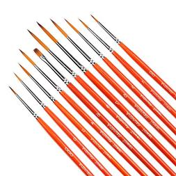 Detail Paint Brush Set - 11 Pieces Miniature Brushes,Artists