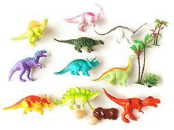 SaveALL Dinosaur Toys Colorful Assorted Stuffed Animal Figur