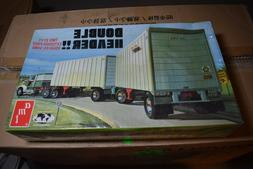 AMT Double Header 1/25 2 27' Exterior Post Trailers Model Ki