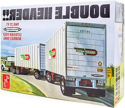 AMT Double Header Tandem Van Trailers - 1/25 Scale Model Tra