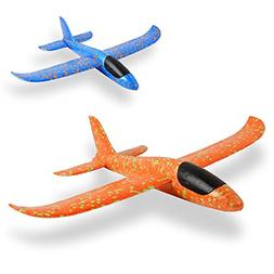 EPP Foam Airplane 2 Pcs Outdoor Game Flying Toys For 3 4 5 6
