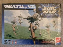 AMT Ertl STAR WARS Episode I STAP with Battle Droid model ki